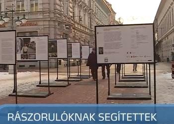 Szeged Televízió: Rászorulóknak segítettek a kiállítással